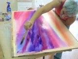Art water color creation , aquarelle , abstrait