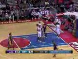 NBA Kobe Bryant picks off the pass and finishes on the other