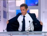 Sarkozy avant le direct de France 3, la vidéo off