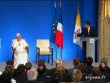 Visite de Benoît XVI : le discours de Nicolas Sarkozy