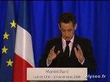 Discours de Nicolas Sarkozy sur le fonds stratégique