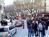Le blocage au lycée Charles Gide de Uzes