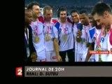 Handball: les bleus chantent leur victoire sur France 2