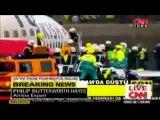 Premières images de l'accident d'avion à Amsterdam