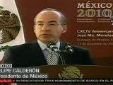 Conmemora Calderon aniversario de Morelos