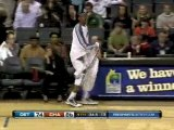 NBA Gerald Wallace looks like he's serving a volleyball when