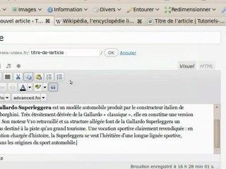 Comment mettre en page un article dans WordPress
