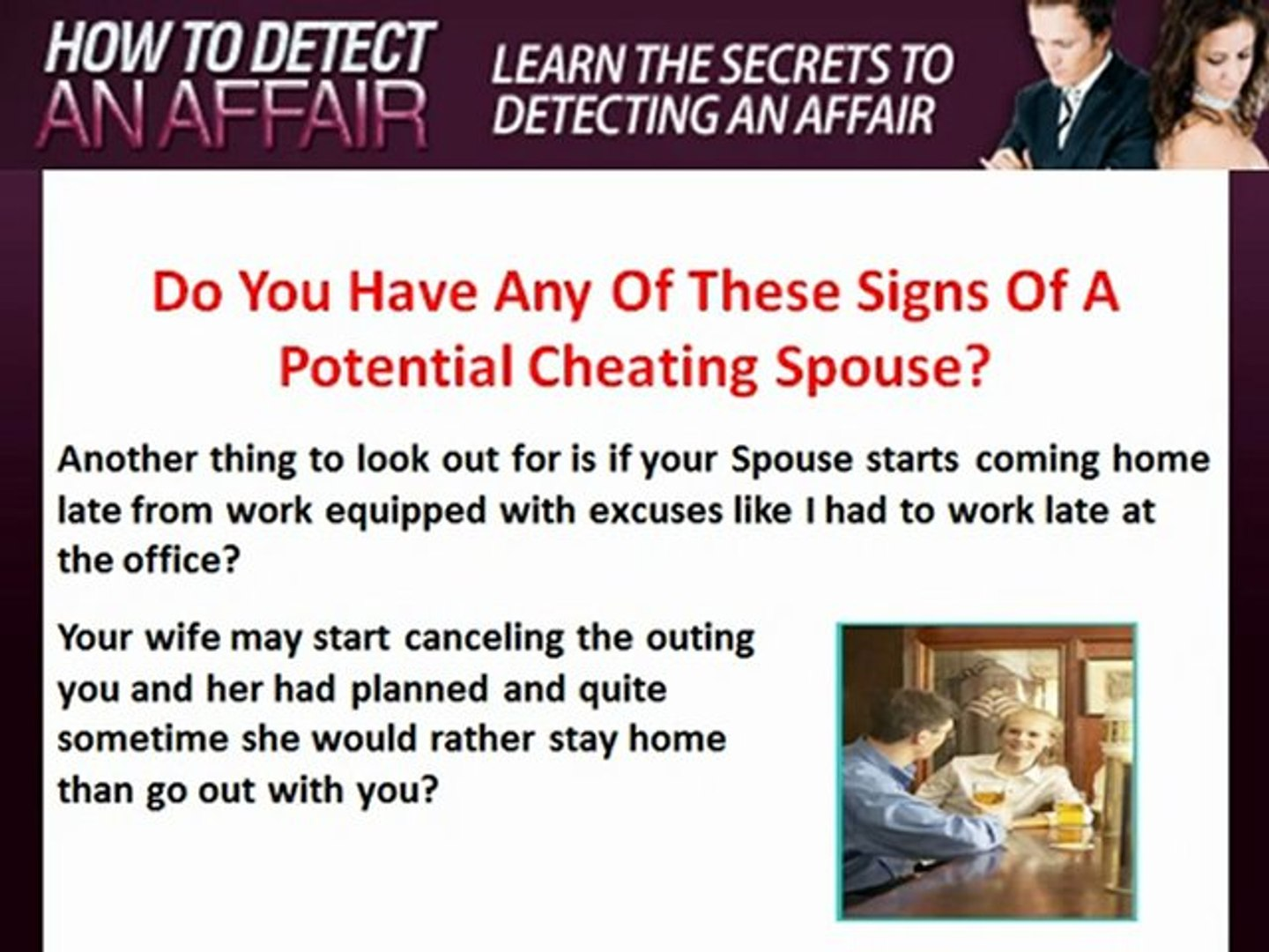 cheating spouse excuses
