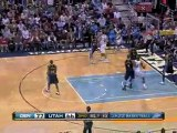 NBA Chris Andersen blocks a shot away from the basket during