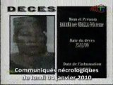 Communiqués nécrologiques du 04-01-10