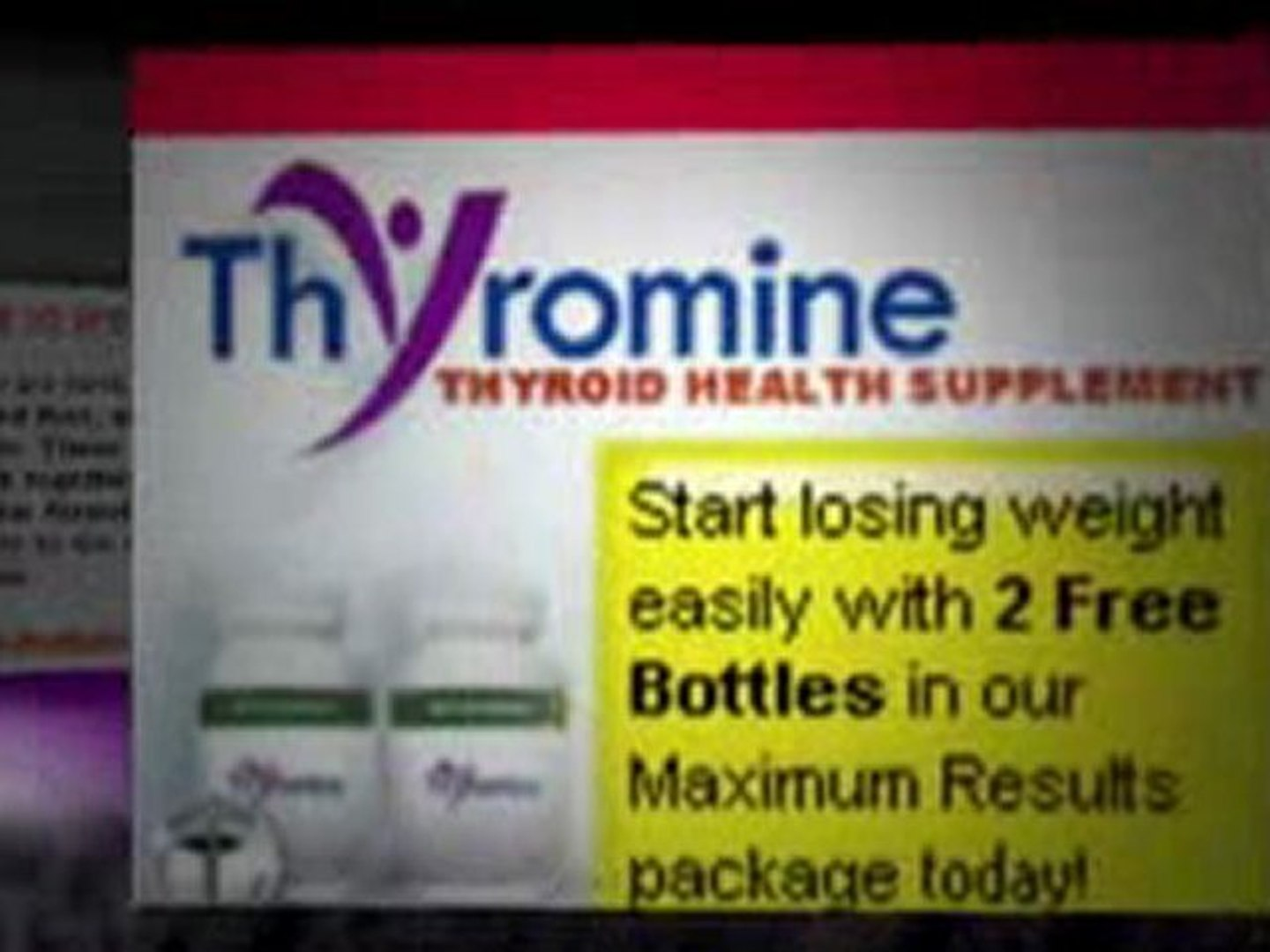 Stop Thyroid Problems With Thyroid Thyromine Video Dailymotion