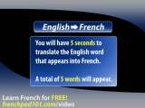 Learn French - French Video Vocabulary Newbie series #8