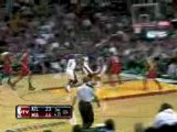 NBA Dwyane Wade throws down the the jam in traffic against t