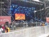 Rome (Italie)- Le Colisée, préparation concert 2010-