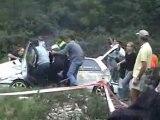 crash Renault Clio 12ème Rallye du Suran 2006