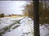 Descente du Touch en VTT sur la neige - Bike Embedded Video