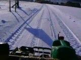 quad rando neige camera embarquée