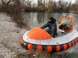 Amphibian Coast Guard Rescue Vehicle SAR - hovercraft rescue