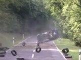 Rallye accident virage