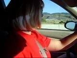 Dancing in the car.