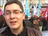 Manifestation à Carcassonne, jeudi 21/01/2010 à Carcassonne: