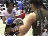 Brenda Shee fights for Sinbi Muay Thai in Phuket, Thailand
