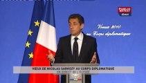 EVENEMENT,Voeux de Nicolas Sarkozy au corps diplomatique, en direct de l'Élysée