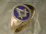 Gold Masonic ring - reversible DAJ177