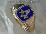 Gold Masonic ring - Reversible DAJ113