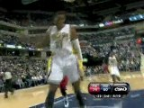 Danny Granger steals the ball and finishes with a huge slam