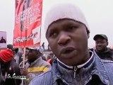 Mobilisation des travailleurs sans-papiers à Massy