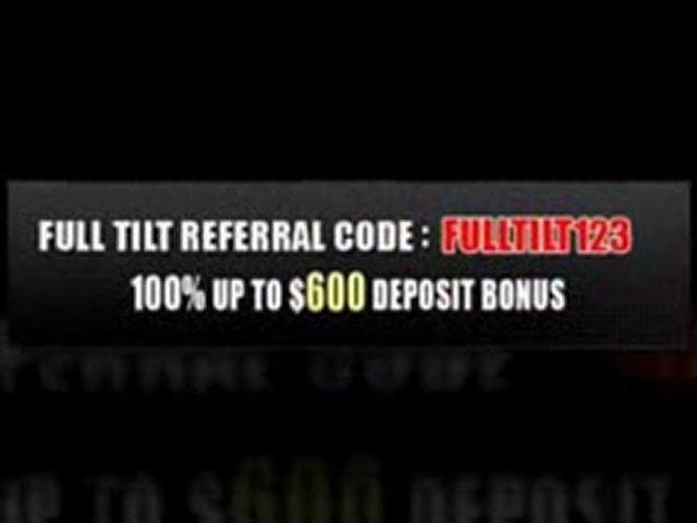 Complete Full Tilt Referral Code