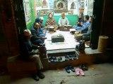 Groupe de musiciens dans un local public à Kathmandou