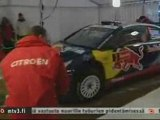 Arctic Lapland Rally 2010 Kimi Raikkonen and Citroen C4 WRC