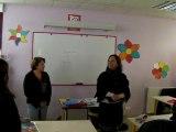 Ségolène Royal visite le lycée A. Dubreuil de St-J.-d'Angély