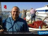 Les pêcheurs contre l'interdiction de la pêche du thon rouge