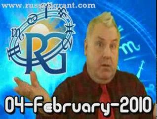 RussellGrant.com Video Horoscope Aries February Thursday 4th