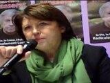 Martine Aubry, 1ère secrétaire du  Parti Socialiste, à Metz