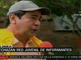 Rechazan en Colombia red juvenil de informantes