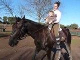 Raphael et moi à cheval