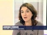 laurence Lyonnais à Midi pile sur France3 07/02/2010