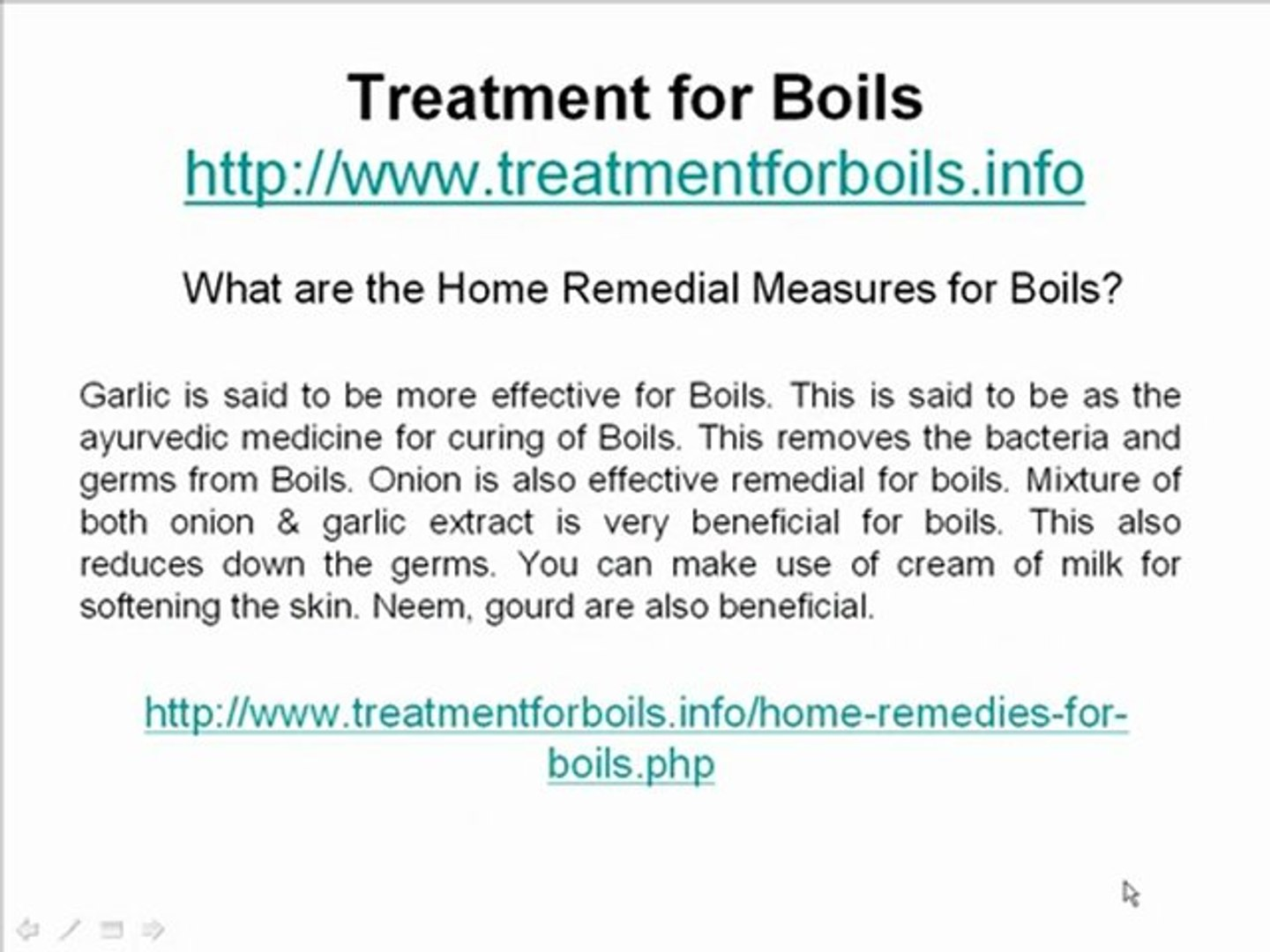 How can I cure my Boils?