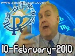 RussellGrant.com Video Horoscope Aquarius February Wednesday