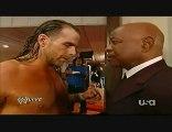 WWE Raw 08.02.10 Backstage Shawn Michaels & Teddy Long & HHH