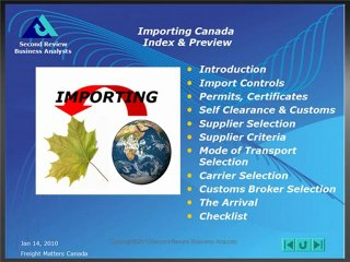 Importing Canada, Index and Preview