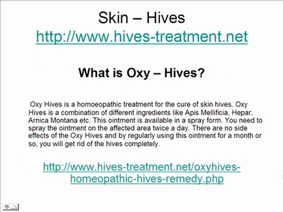 Hives On Skin Video Dailymotion