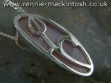 Sterling silver Charles Rennie Mackintosh necklace DWA199