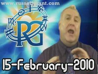 RussellGrant.com Video Horoscope Aquarius February Monday 15
