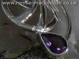 Sterling silver Charles Rennie Mackintosh necklace DWA183