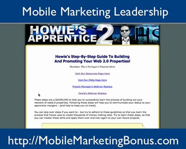Mobile Marketing Leadership Bonus